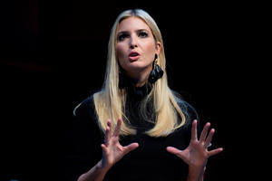 Ivanka Trump speaks during the Business Roundtable CEO Innovation Summit in Washington, DC on December 6, 2018. (Photo by Jim WATSON / AFP)        (Photo credit should read JIM WATSON/AFP/Getty Images)