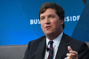 NEW YORK, NY - NOVEMBER 29:  Tucker Carlson, host of 'Tucker Carlson Tonight' speaks onstage at IGNITION: Future of Media at Time Warner Center on November 29, 2017 in New York City.  (Photo by Roy Rochlin/Getty Images)