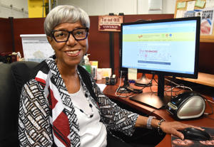 Sadye Whitt, who has worked for the city longer than any other employee, has been with the Enoch Pratt Free Library for 56 years. She is 77, and has no intention of quitting a job she still enjoys and does well.