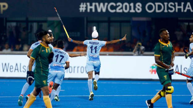 2dbdeacc34f Hockey World Cup 2018  India blasted five goals past South Africa in their  first match