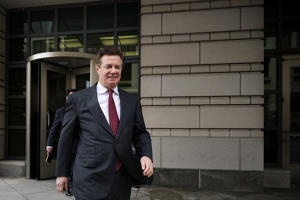 WASHINGTON, DC - APRIL 04:  Former Trump Campaign manager Paul Manafort leaves the E. Barrett Prettyman United States Courthouse following a hearing on April 4, 2018 in Washington, DC. Manafort and his legal team attempted to convince a federal judge on Wednesday to throw out criminal charges filed against him by Special Counsel Robert Mueller, who is investigating potential collusion between President Donald Trump's campaign and Russia.  (Photo by Chip Somodevilla/Getty Images)