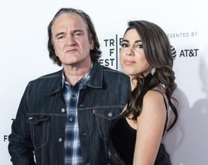 NEW YORK, NY - APRIL 28:  Director Quentin Tarantino and Singer/actress Daniella Pick attend the 'Reservoir Dogs' 25th Anniversary Screening during 2017 Tribeca Film Festival at The Beacon Theatre on April 28, 2017 in New York City.  (Photo by Gilbert Carrasquillo/FilmMagic)