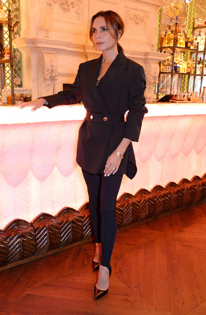 LONDON, ENGLAND - SEPTEMBER 17:  Victoria Beckham attends the exclusive Victoria Beckham trunk show and breakfast at Annabel's on September 17, 2018 in London, England.  (Photo by David M. Benett/Dave Benett/Getty Images for Annabel's)