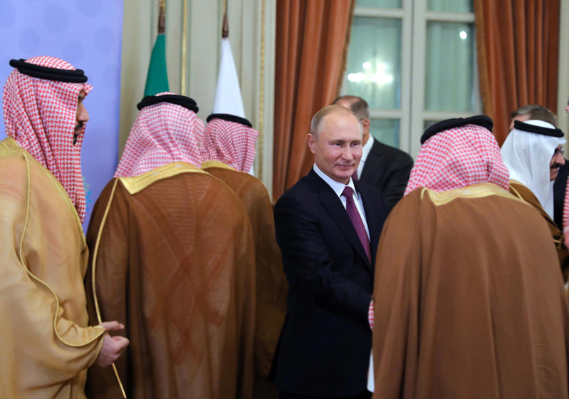 Russian President Vladimir Putin attends a meeting with Saudi Arabia's Crown Prince Mohammed bin Salman on the sidelines of the G20 leaders summit in Buenos Aires, Argentina December 1, 2018.