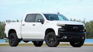 a car parked in a parking lot: 2019 Chevrolet Silverado Trailboss: Review