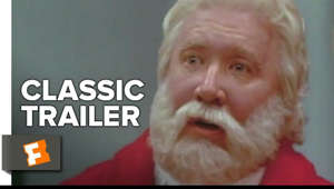 a close up of a person: The Santa Clause (1994) Trailer #1: Check out the trailer starring Tim Allen, Judge Reinhold, and Wendy Crewson! Be the first to watch, comment, and share old trailers dropping @MovieclipsClassicTrailers.  ► Buy or Rent on FandangoNOW: https://www.fandangonow.com/details/movie/the-santa-clause-1994/MMVCC543E59435D72DB31907398C479611D6?ele=searchresult&elc=the%20santa%20clause&eli=0&eci=movies?cmp=MCYT_YouTube_Desc   Watch more Classic Trailers:  ► Classic Remade Films Playlist http://bit.ly/2nQX1eG  ► Classic Superhero Films Playlist http://bit.ly/2o3saxE  ► Classic Movie Adaptations Playlist http://bit.ly/2oSfo2o   Divorced dad Scott (Tim Allen) has custody of his son (Eric Lloyd) on Christmas Eve. After he accidentally kills a man in a Santa suit, they are magically transported to the North Pole, where an elf explains that Scott must take Santa's place before the next Christmas arrives. Scott thinks he's dreaming, but over the next several months he gains weight and grows an inexplicably white beard. Maybe that night at the North Pole wasn't a dream after all -- and maybe Scott has a lot of work to do.  Subscribe to CLASSIC TRAILERS: http://bit.ly/1u43jDe We're on SNAPCHAT: http://bit.ly/2cOzfcy Like us on FACEBOOK: http://bit.ly/1QyRMsE Follow us on TWITTER: http://bit.ly/1ghOWmt  Welcome to the Fandango MOVIECLIPS Trailer Vault Channel. Where trailers from the past, from recent to long ago, from a time before YouTube, can be enjoyed by all. We search near and far for original movie trailer from all decades. Feel free to send us your trailer requests and we will do our best to hunt it down.