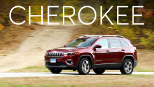 a car parked on the side of a road: 2019 Jeep Cherokee Road Test