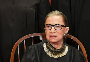 Associate Justice Ruth Bader Ginsburg poses for the official photo at the Supreme Court in Washington, DC on November 30, 2018. (Photo by MANDEL NGAN / AFP)        (Photo credit should read MANDEL NGAN/AFP/Getty Images)