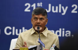 PM threatens others to fall in line: Naidu