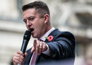 Stephen Yaxley-Lennon, AKA Tommy Robinson, founder and former leader of the anti-Islam English Defence League (EDL)