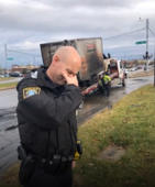 Cops unite to mourn tragic loss of doughnut truck