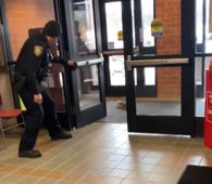Watch cops freak out as squirrel breaks into police precinct