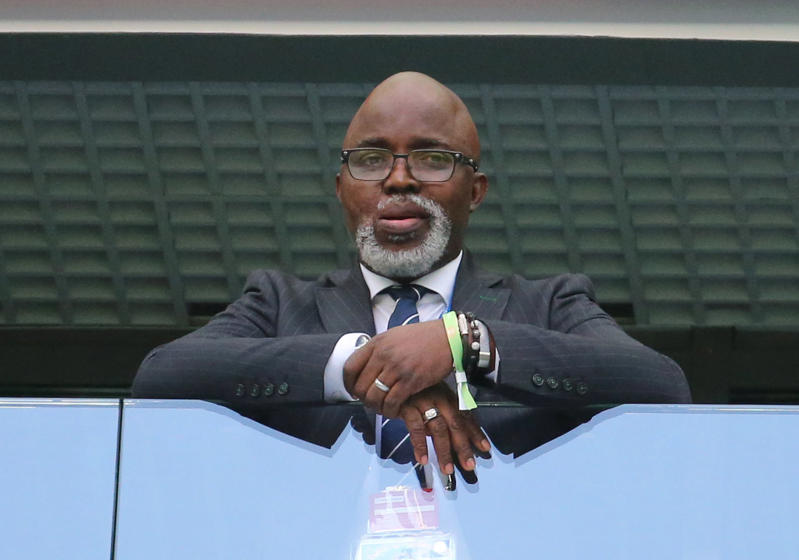 The President of the Nigeria Football Federation, Amaju Melvin Pinnick during a First Stage Group D football match between Nigeria and Argentina at Saint Petersburg Stadium (Krestovsky Stadium) at FIFA World Cup Russia 2018; Argentina won 2-1.