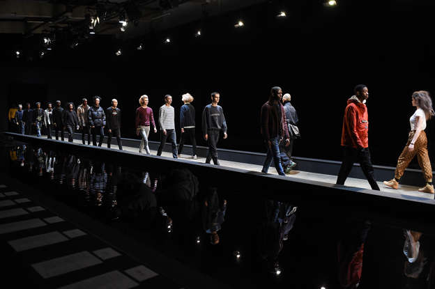 Life rafts and bin bags at London fashion week men's shows
