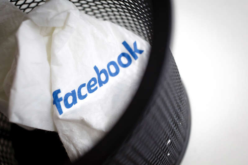 Berlin, Germany - December 20: In this photo illustration a crumpled paper napkin with the lettering from facebook lies in a wastebasket on December 20, 2018 in Berlin, Germany. (Photo Illustration by Thomas Trutschel/Photothek via Getty Images)