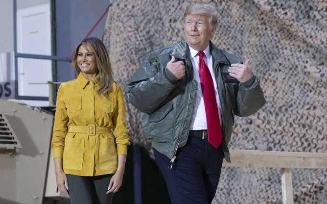 Trump in Iraq on first visit to troops in troubled region  52 mins ago  Indonesia says avoid coast near volcano, fearing new tsunami   Trek into Congo Forest Reveals Ebola Crisis Fueled by Violence   Slide 1 of 11: US President Donald Trump and First Lad BBRsItH
