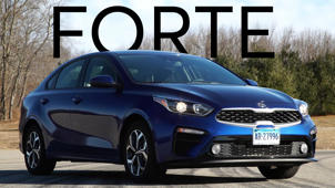 a car parked in a parking lot: 2019 Kia Forte Road Test