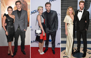HOLLYWOOD - MARCH 25: Actress Miley Cyrus and actor Liam Hemsworth arrive to 'The Last Song' Los Angeles Premiere at ArcLight Hollywood on March 25, 2010 in Hollywood, California. (Photo by John Shearer/WireImage) LOS ANGELES, CA - AUGUST 08: Miley Cyrus and Liam Hemsworth attend the premiere of Relativity Media's 'Paranoia' at DGA Theater on August 8, 2013 in Los Angeles, California. (Photo by Jason Kempin/Getty Images) CAPTION: BEVERLY HILLS, CA - MARCH 04: Miley Cyrus (L) and Liam Hemsworth attend the 2018 Vanity Fair Oscar Party hosted by Radhika Jones at Wallis Annenberg Center for the Performing Arts on March 4, 2018 in Beverly Hills, California. (Photo by George Pimentel/WireImage)