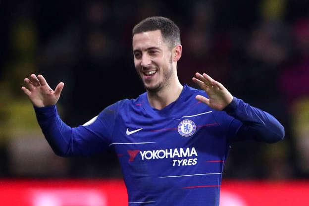f89cab82a Chelsea s Eden Hazard reaches century of goals to break Watford resolve