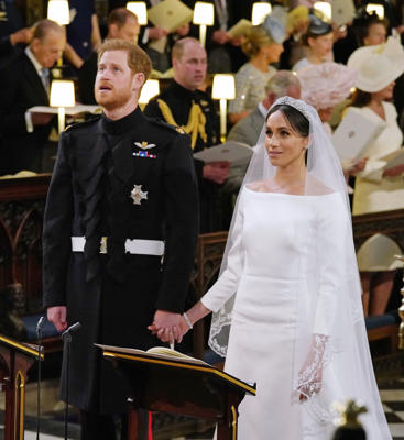 "Prince Harry, Meghan Markle standing in front of a crowd: See all the stars who exchanged vows in 2018, starting with the wedding of the year! Prince Harry and Meghan Markle -- now known as the Duke and Duchess of Sussex -- got married at St. George's Chapel at Windsor Castle on May 19. Thanks to many Hollywood stars like the Beckhams, George Clooney, Oprah Winfrey and the cast of ""Suits,"" along with royal family members, the wedding was a star-studded affair. Following the nuptial service, the royal couple took a horse-drawn carriage ride through the town of Windsor. See more stars who celebrated weddings this year..."