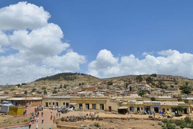 A general view taken on October 3, 2018, shows the southern Eritrean town of Senafe, some 30km north of the border with Ethiopia, on October 3, 2018.