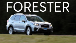 a car parked in a parking lot: 2019 Subaru Forester Road Test
