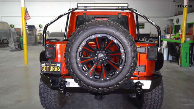 Crazy Custom Jeep Wrangler 6x6 Pickup Packs Hellcat V8 Power