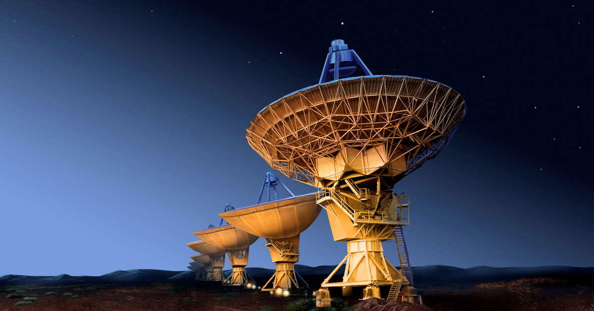Repeated radio signals coming from galaxy 1 5 billion light years