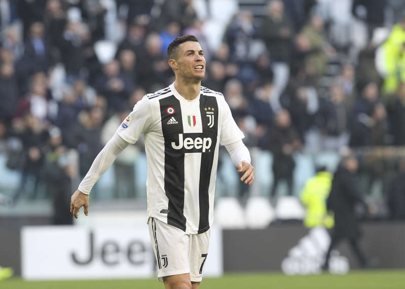 Cristiano Ronaldo (Juventus FC) during the Serie A football match between Juventus FC and UC Sampdoria at Allianz Stadium on December 29, 2018 in Turin, Italy. Juventus won 2-1 over Sampdoria. (Photo by Massimiliano Ferraro/NurPhoto via Getty Images)
