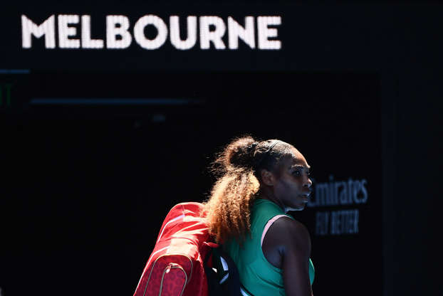 Slide 2 of 44: Serena Williams leaves the court after her defeat against Czech Republic's Karolina Pliskova during their women's singles quarter-final match on Day 10 of the Australian Open tennis tournament on Jan. 23, 2019, in Melbourne, Australia. Serena lost 4-6, 6-4, 5-7.