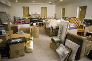 INTERIOR THERAPY WITH JEFF LEWIS -- 'Charity Begins at Home' Episode 102 -- Pictured: Living room storage area before renovation -- (Photo by: Isabella Vosmikova/Bravo/NBCU Photo Bank via Getty Images)