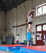 Ill-advised acrobatic stunt ends terribly