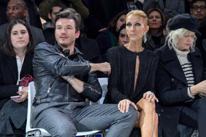 Pepe Munoz and Celine Dion attend the Alexandre Vauthier  Haute Couture Spring Summer 2019 show as part of Paris Fashion Week  on January 22, 2019 in Paris, France. (Photo by Stephane Cardinale - Corbis/Corbis via Getty Images)