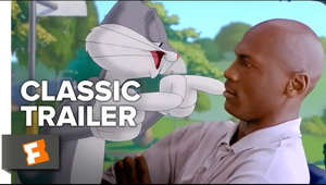 a screen shot of a person: Space Jam (1996) Official Trailer - Michael Jordan, Bill Murray Movie HD Subscribe to CLASSIC TRAILERS: http://bit.ly/1u43jDe Subscribe to TRAILERS: http://bit.ly/sxaw6h Subscribe to COMING SOON: http://bit.ly/H2vZUn Like us on FACEBOOK: http://bit.ly/1QyRMsE Follow us on TWITTER: http://bit.ly/1ghOWmt  Michael Jordan agrees to help the Looney Toons play a basketball game vs. alien slavers to determine their freedom.  Welcome to the Fandango MOVIECLIPS Trailer Vault Channel. Where trailers from the past, from recent to long ago, from a time before YouTube, can be enjoyed by all. We search near and far for original movie trailer from all decades. Feel free to send us your trailer requests and we will do our best to hunt it down.