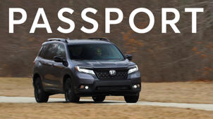 a car parked in a parking lot: 2019 Honda Passport Quick Drive
