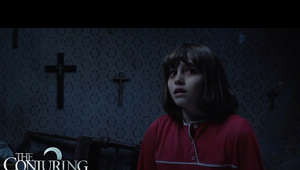 a person in a red shirt: In theaters June 10, 2016! http://TheConjuring2.com  https://www.facebook.com/TheConjuringMovie/  The supernatural thriller brings to the screen another real case from the files of renowned demonologists Ed and Lorraine Warren. Reprising their roles, Oscar nominee Vera Farmiga and Patrick Wilson star as Lorraine and Ed Warren, who, in one of their most terrifying paranormal investigations, travel to north London to help a single mother raising four children alone in a house plagued by malicious spirits. The Conjuring 2 in theaters June 10, 2016.