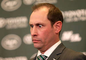 CAPTION: New York Jets head coach Adam Gase speaks during a news conference in Florham Park, N.J., Monday, Jan. 14, 2019.