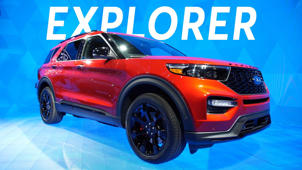 a car parked in a parking lot: 2019 Detroit Auto Show: 2020 Ford Explorer