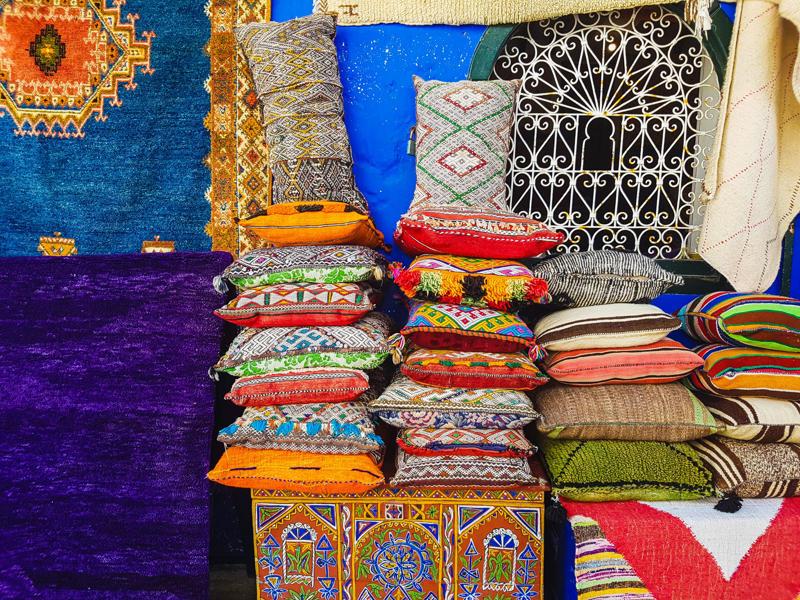 Street market in Asilah, Morocco