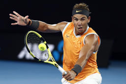 Tennis - Australian Open - Second Round - Melbourne Park, Melbourne, Australia, January 16, 2019. Spain's Rafael Nadal in action during the match against Australia's Matthew Ebden. REUTERS/Edgar Su