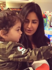 Katrina poses with little fan