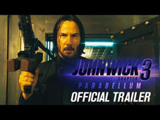 Keanu Reeves looking at the camera: John Wick: Chapter 3 - Parabellum – In theaters May 17, 2019. Starring Keanu Reeves, Halle Berry, Laurence Fishburne, Mark Dacascos, Asia Kate Dillon, Lance Reddick, Saïd Taghmaoui, Jerome Flynn, Jason Mantzoukas, Tobias Segal, Boban Marjanovic, with Anjelica Huston, and Ian McShane.  Subscribe to the LIONSGATE YouTube Channel for the latest movie trailers, clips, and more: http://lions.gt/youtubesubscribe   #JohnWick3 http://www.johnwick.movie/ https://www.facebook.com/johnwickmovie https://twitter.com/JohnWickMovie https://www.instagram.com/johnwickmovie/  In this third installment of the adrenaline-fueled action franchise, super-assassin John Wick (Keanu Reeves) returns with a $14 million price tag on his head and an army of bounty-hunting killers on his trail. After killing a member of the shadowy international assassin's guild, the High Table, John Wick is excommunicado, but the world's most ruthless hit men and women await his every turn.  Summit Entertainment presents, a Thunder Road Films production, in association with 87Eleven Productions.