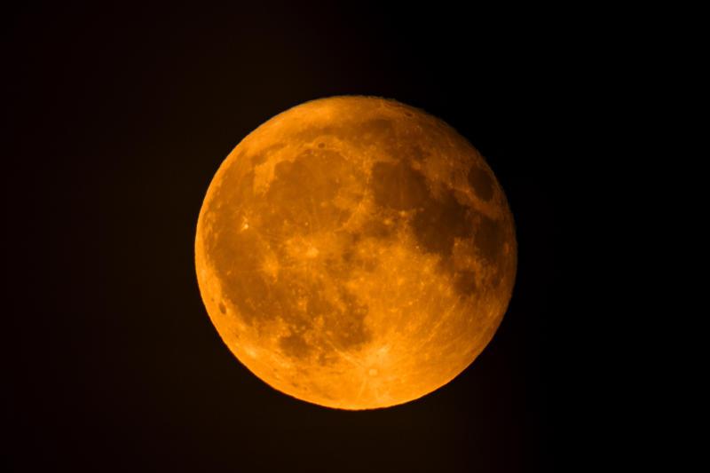 Representational image: Full lunar eclipse in the dark night sky