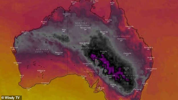 It S So Hot The Weather Map Has Turned Black Australia Swelters In