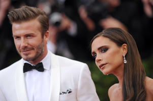 David Beckham and Victoria Beckham attend the 'Charles James: Beyond Fashion' Costume Institute Gala at the Metropolitan Museum of Art on May 5, 2014 in New York City. (Photo by Axelle/Bauer-Griffin/FilmMagic)