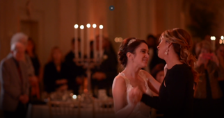 Very special surprise dance for bride who lost her father