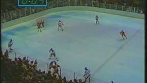 a view of a large crowd of people: On February 22, 1980, the United States Olympic hockey team pulled off one of the greatest upsets in sports history, defeating the Soviet Union, 4-3.  Back in 2005, ESPN replayed this game and the gold medal game against Finland as part of the 25th anniversary of these Olympics.  Al Michaels and Ken Dryden on the call.  Courtesy: ABC/ESPN  MILESTONES: --------------------- 100,000 views: Sunday, May 1, 2011 130,000 views: Wednesday, August 3, 2011 140,000 views: Early September, 2011 (141K as of 9/7/2011) 150,000 views: Tuesday, September 27, 2011 170,000 views: Monday, November 7, 2011 180,000 views: Friday, November 25, 2011 200,000 views: Sunday, January 1, 2012 260,000 views: Wednesday, February 22, 2012 (32 years to the day) 300,000 views: Thursday, February 23, 2012 600,000 views: Friday, February 22, 2013
