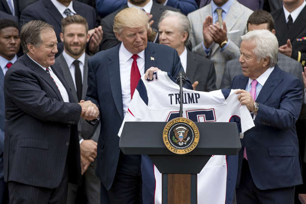 outlet store e762f 95c99 New England Patriots Owner Praises Donald Trump: Working In ...