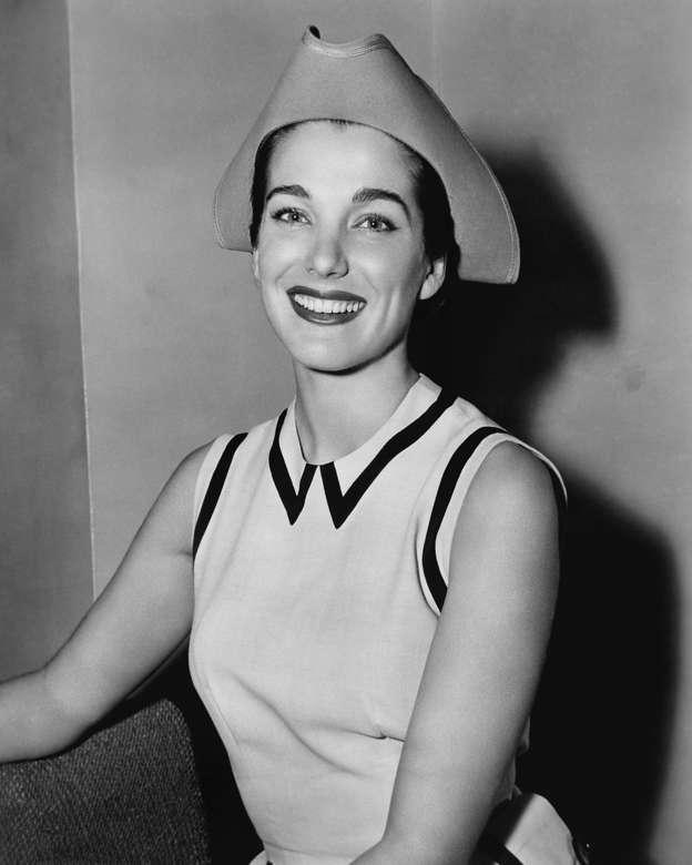 5ea0693ddce American actress Julie Adams wearing a tricorn-style hat