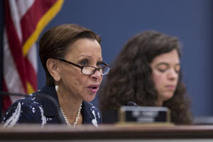FILE: House Small Business Committee Ranking Member Nydia Velázquez (D-NY) speaks during a House Small Business Committee hearing on Capitol Hill  June 27, 2018 in Washington, DC. (Photo by Zach Gibson/Getty Images)